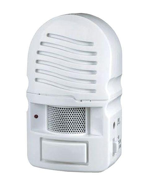 Alarm Hlásič pohybu dveřní s PIR čidlem detektor gong s fotosenzorem, dosah cca 5 m, napájení síť 6V/4xAA baterie