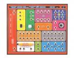 Elektronická stavebnice laboratoř VOLTÍK II. naučná pro děti, začátečníky, bliká, svítí, houká, zvuky