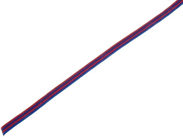 Kabel plochý PNLY 0,124-4 CN barevný PVC 4-žilový 0,124mm2 licna, 4x