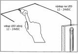 LED ovladač-stmívač dotykový DS1,12-24Vss/30W, regulace dotykem