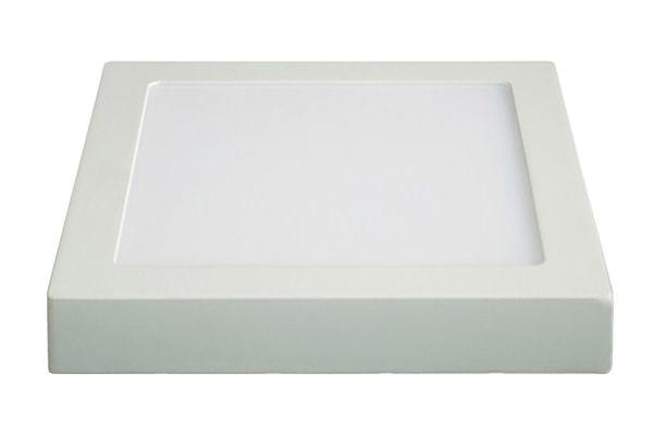 LED panel přisazený, 12W, 900lm, 3000K, teplá bílá, čtvercové, hranaté, bílé SOLIGHT WD114