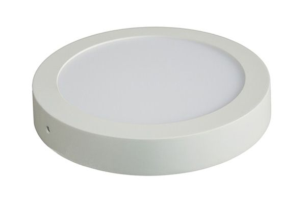 LED panel přisazený, 18W, 1530lm, 3000K, teplá bílá, kulatý, bílý SOLIGHT WD117