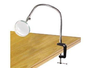 Lupa stolní kulatá FLEX na flexibilním rameni, 3 dioptrie, délka 51cm, upevnění na hranu stolu