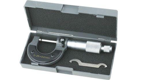 Mikrometrické měřidlo (mikrometr) analogový v milimetrech, Rozsah měření 0...25mm, Přesnost měření 0,01mm, pouzdro