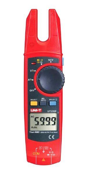 Multimetr UNI-T UT256B - fork type, vidlice místo klasických kleští, AC DC napětí i proud, kapacita, odpor