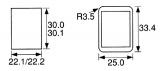 Přepínač-vypinač kolébkový C1570 3polohy ON-OFF-ON 250V/16A, 6pinů na fastony, rozměry