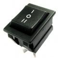 Přepínač kolébkový ON-OFF-ON 250V/16A, 6pin