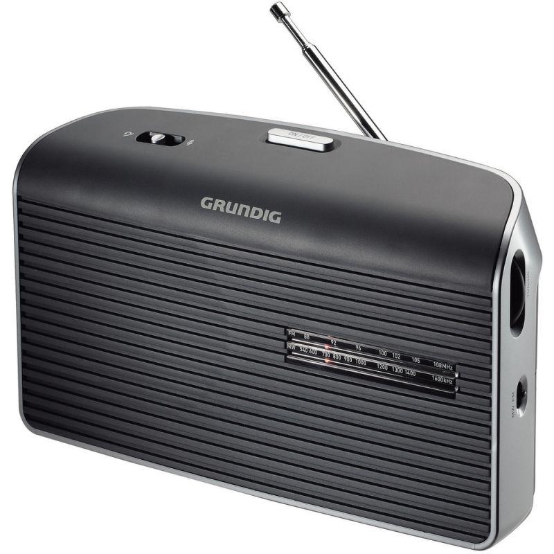 Radiopřijímač GRUNDIG MUSIC 60 Grey FM, na 230V AC i na baterie