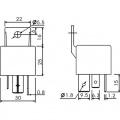 RELÉ AM3-12CF auto 1x přepínací kontakt 80A, 12VDC, elektromagnetické, auto, rozměry, pinů fastonů