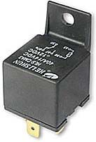 Relé auto NVF4-2 12V/40A 28x28x25mm s třmínkem 1x kontakt 40A, 12VDC
