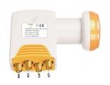 Satelitní konvertor Golden Media GI204 MS+ 0.1dB quatro pro připojení k multi-switch