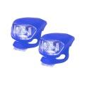 Svítilna na kolo silikonová sada-modrá
