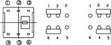 Tlačítko spínač s aretací T 800-L, dvoupólový přepínač ON-ON, 2x přepínací kontakt , do DPS