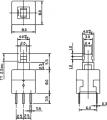 Tlačítko spínač bez aretace TN 800-N, přepínací ON-ON, 2x přepínací kontakt , do DPS
