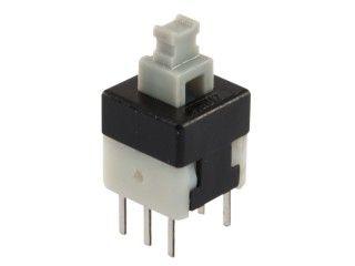 Tlačítko spínač bez aretace ZIPPY P1-2S-Z, přepínací ON-ON, do DPS 2-pólový