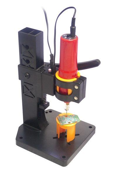 Vrtačka miniaturní AD-12 + Stojánek DS-12 LED, 14000 ot./min., napájení 12V, upínací rozmezí 0.8-2mm, na plošné spoje, pro modeláře