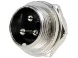 XLR 3VP-ŠR 3-piny MIC vidlice na panel