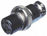 XLR 4ZK-ŠR 4-piny MIC zásuvka na kabel šroubovací
