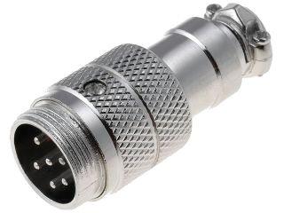 XLR 6VZK-ŠR Mikrofonní konektor-vidlice na kabel 6-piny šroubovací aretace