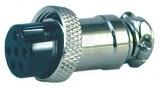 XLR 6ZK-ŠR 6-piny MIC zásuvka na kabel šroubovací