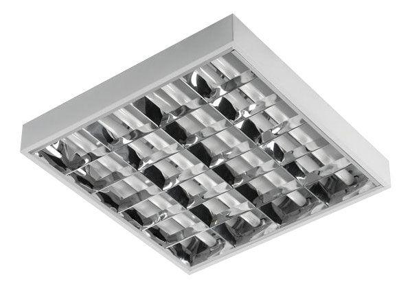Zářivkové těleso 230V/4x18W, k přisazení, stropní, možnost použití LED trubic