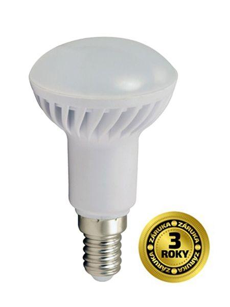 LED žárovka reflektorová, R50, 5W, E14, 3000K, 400lm, bílé provedení WZ413 SOLIGHT - teplá bílá