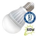 LED žárovka A60, E27/230V, 10W - bílá teplá (DVZLED)