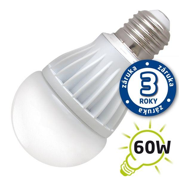 LED žárovka A60, E27/230V, 10W - bílá teplá 2900-3200K (DVZLED), odpovídá tradiční 60W žárovce