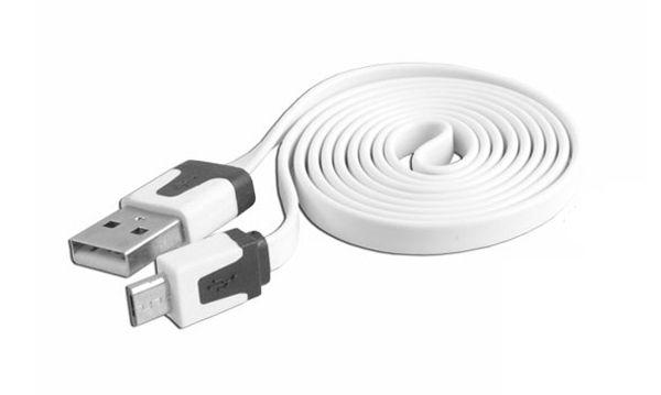Plochý datový kabel USB/micro USB -> USB - Nokia, Samsung, HTC (Bulk)