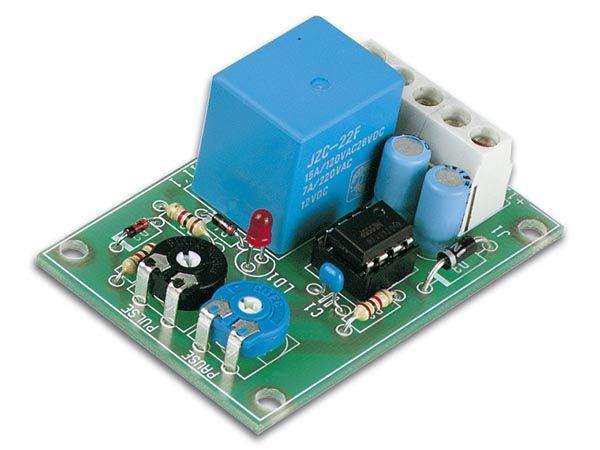 Intervalový časový spínač 12VDC, hotový sestavený modul, puls-pauza se ideálně hodí pro automatizaci různých časových intervalů, spínaná zátěž max 24V/3A