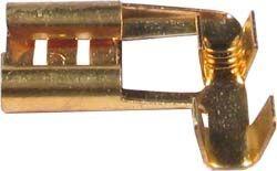 Konektor faston zdířka 6,3mm úhlová, neizol.pro kab.1-1,5mm2