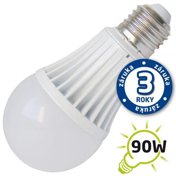 LED žárovka A60, E27/230V, 15W - bílá teplá, (DVZLED) 2900-3200K, odpovídá tradiční 90W žárovce