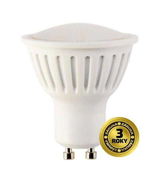 LED žárovka, bodová , 5W, GU10, 4000K, 400lm, bílá SOLIGHT WZ317 - neutrální bílá (denní), odpovídá 35W bodovému halogenu