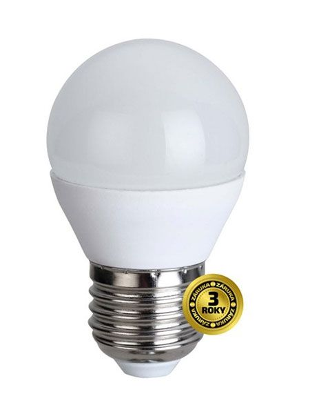 LED žárovka, miniglobe, 4W, E27, 3000K, 310lm - Teplá bílá, malá baňka, odpovídá tradiční 29W žárovce