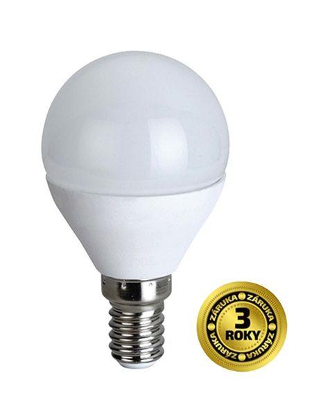 LED žárovka miniglobe, malá baňka, 6W, E14, 4000K, 420lm, bílé provedení - neutrální bílá (denní), odpovídá tradiční 37 W žárovce