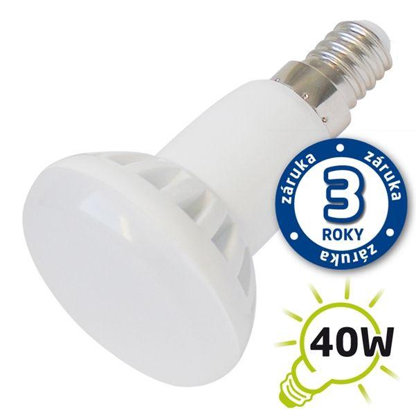 LED žárovka reflektorová R50, E14/230V, 5W - Přírodní bílá 4000-4500K, odpovídá tradiční 40 W žárovce