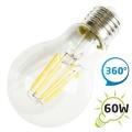 LED žárovka retro II, A60 E27/230V 8W - bílá teplá, filament (DVZLED)