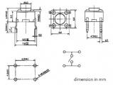 Mikrospínač 6x6mm výška 0,8mm, RM6.5x4.5mm