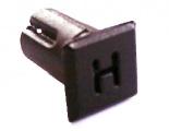Objímka SL237 pro LED diody @5mm znaková (H)