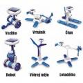 Solární kit-vzdělávcí stavebnice SolarBot modrý skládačka Robot SolarKit 6 v 1