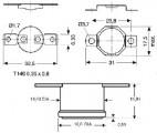 Termostat teplotní NO-spínací vratný F-040/10A 40°C-náhradní díl na fastony