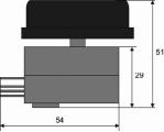 Nastavitelný spínací Termostat 400Vstř. BT-K40/10A, 0°...+40°C