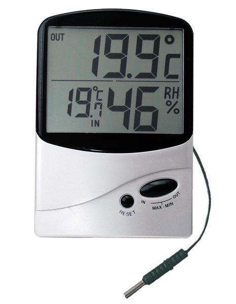 Digitální teploměr s vlkoměrem TM-986H-dvě teploty