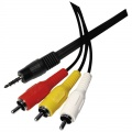 Kabel Jack 3,5 stereo 4pin-3xCINCH 1,5m