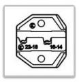 Krimpovací čelisti pro neizolované konektory FASTON PROSKIT CP-236DF1