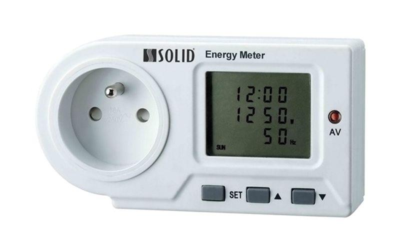 Měřič spotřeby elektrické energie digitální - wattmetr do zásuvky, velký displej, LED indikace I
