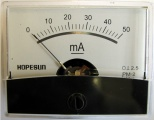 Panelové měřidlo ampermetr PMA-50mA 60x47mm
