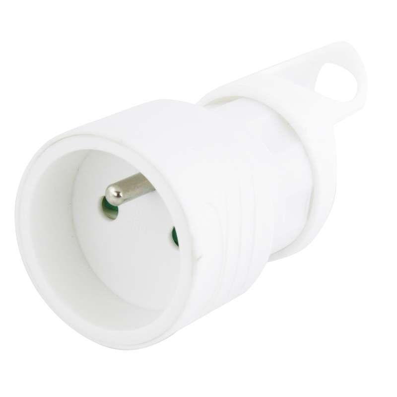 Zásuvka 230V AC přímá bílá, na kabel, prodluž