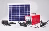Solární set-solární panel 20Wp, 12V/12Ah baterie, 2x LED 3W, 2x 5m kabel, USB redukce