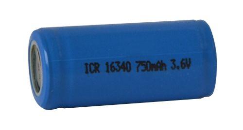 Baterie Lithiová nabíjecí článek CR123 Li-Ion ICR16340 (RCR123) 3,7V/750mAh bez vývodů